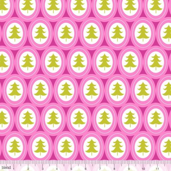 blendfabrics, Treelicious Jingle Bells pink, Webstoff, *Letztes Stück ca. 140 cm*