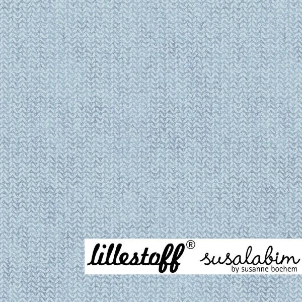lillestoff, Susalabims Shabbystrick graublau, Sommersweat