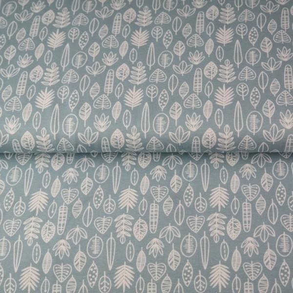 Stenzo Blätterreigen weiß auf hellblau, Jersey