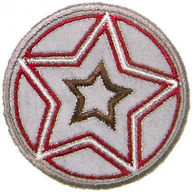 Applikation Sterneball, reflektierend, rot/braun