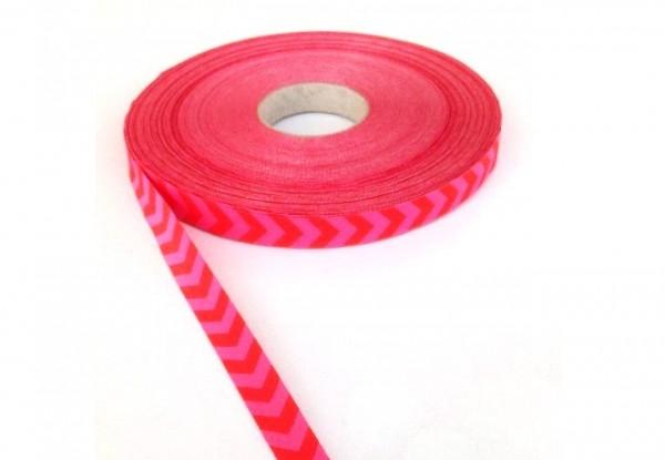 Chevron, rot-pink, Webband