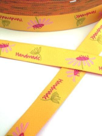 handmade (Blaubeerstern), gelb, Webband