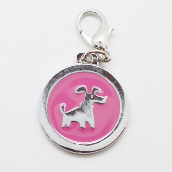Anhänger, Hund pink