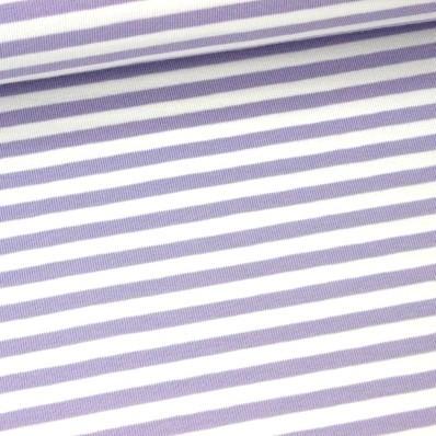 Emil, Streifen flieder-weiß, Jersey