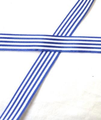 Stoffband, mittelblau gestreift, 10 mm