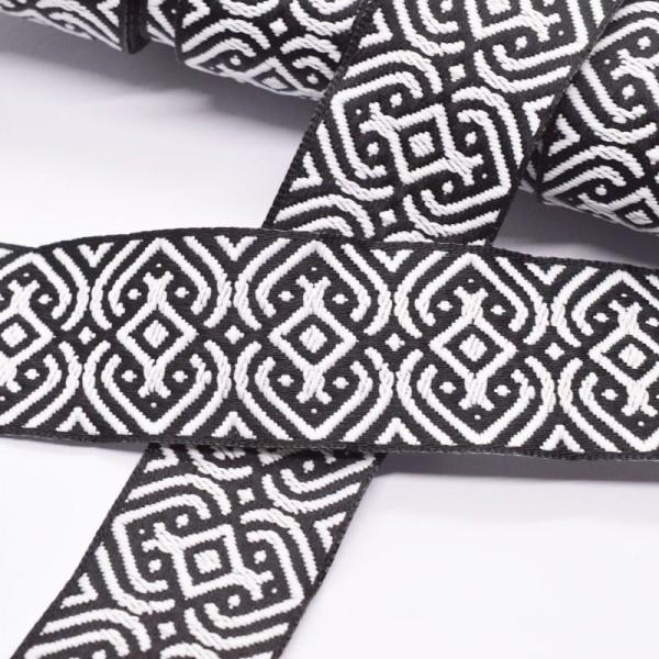 Keltisches Muster, schwarz/weiß, Webband