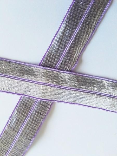 Glitzerfalzgummi, lila-silber