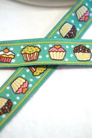 Cupcakes, türkisgrün, Webband