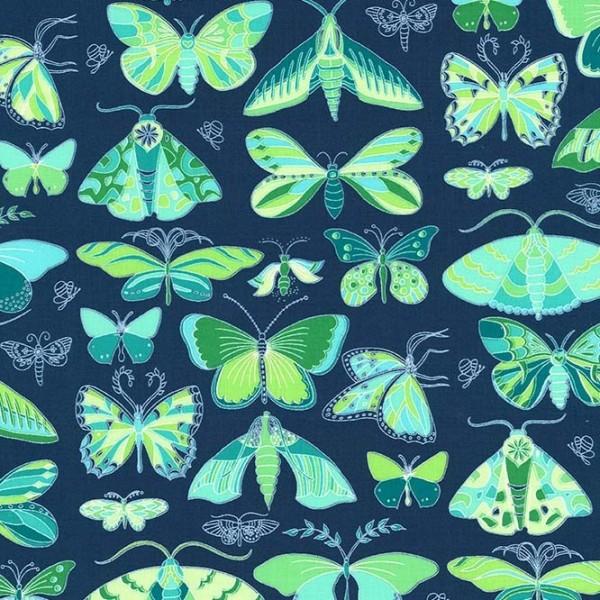 M. Miller Joy, Schmetterlinge petrol, Webstoff