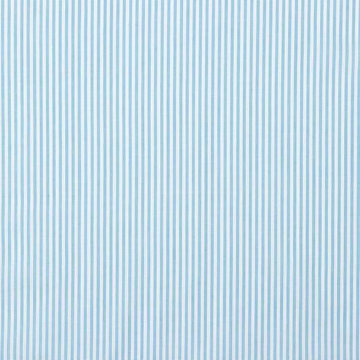 Streifen helltürkis, Yarn Dyed, Baumwollpopeline, waschbar bei 60°