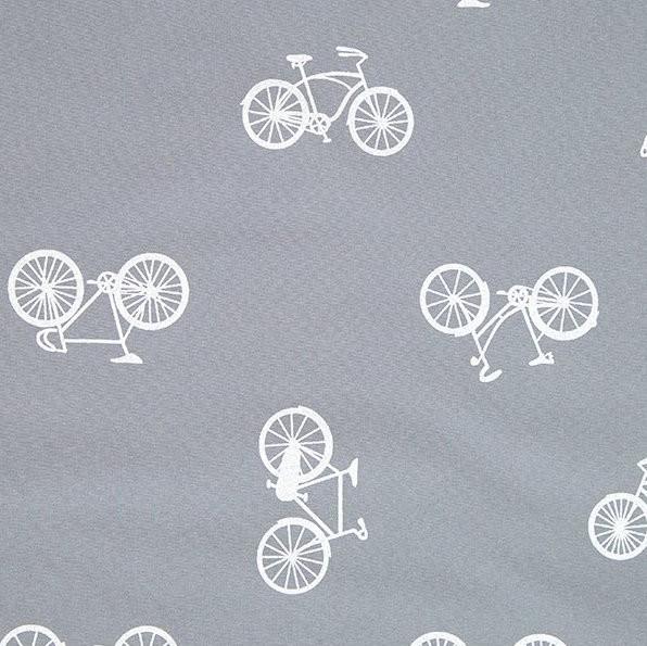 Reflektierender Nano Softshell, Fahrräder grau, *Letztes Stück ca. 40 cm*