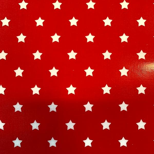 Laminat, Sterne weiß auf rot