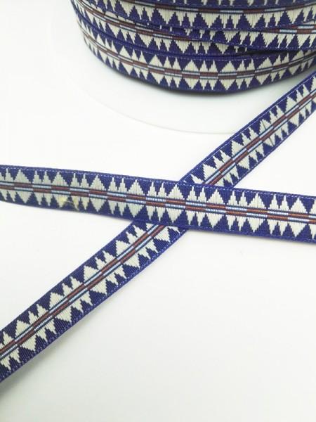 Indigene, blau, Webband