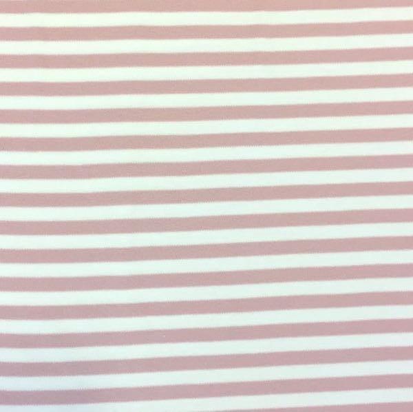 Jamie, Interlock-Jersey rosa-weiß gestreift, Jersey