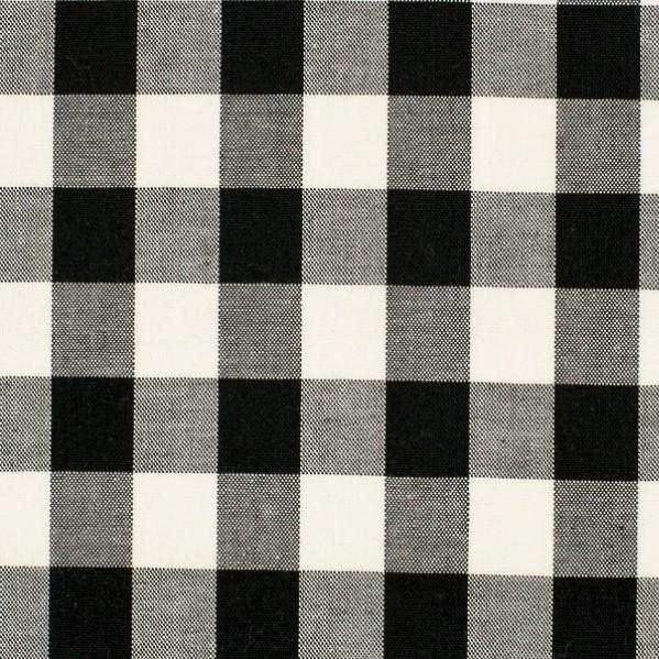 Vichykaro, extra groß, schwarz-weiß kariert
