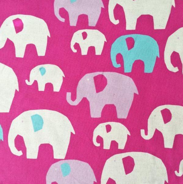 KOKKA Elephant pink Baumwollstoff