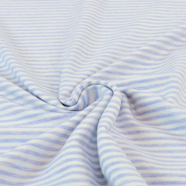 Alexander, Streifen hellblau-meliert/weiß, Kuscheljersey