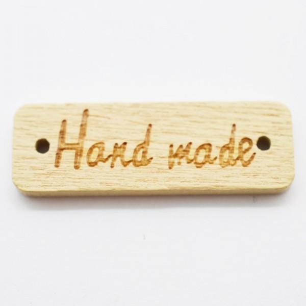 Label aus Holz, handmade, rechteckig, natur