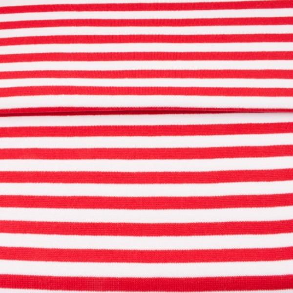 Ringelbündchen medium, rot-weiß