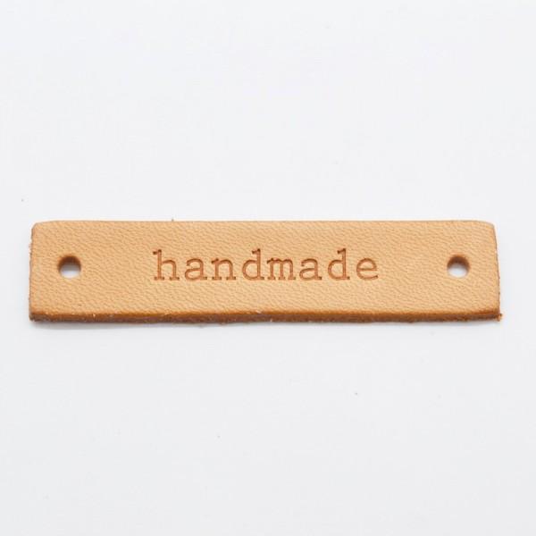 PRYM Label aus Leder, handmade, rechteckig
