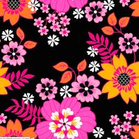 ZNOK Flower Agnes pink auf schwarz, Bio-Jersey