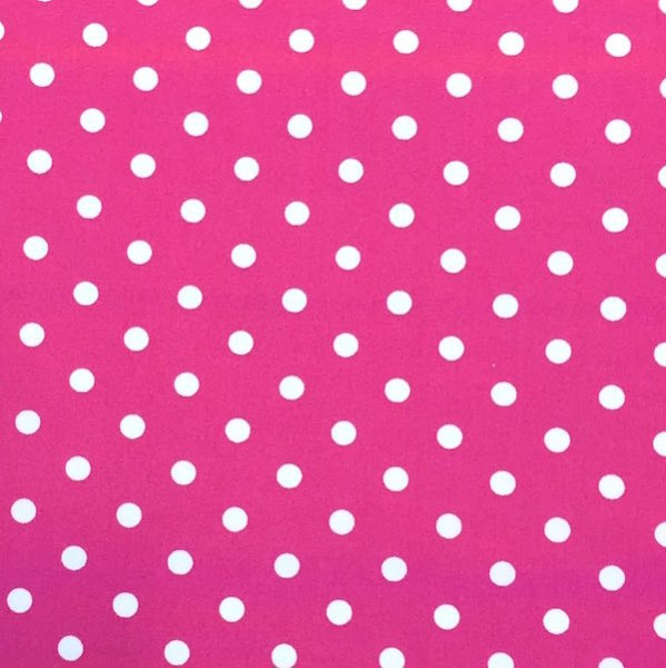 Lili Punkte mittel, pink, Webstoff, waschbar bei 60°