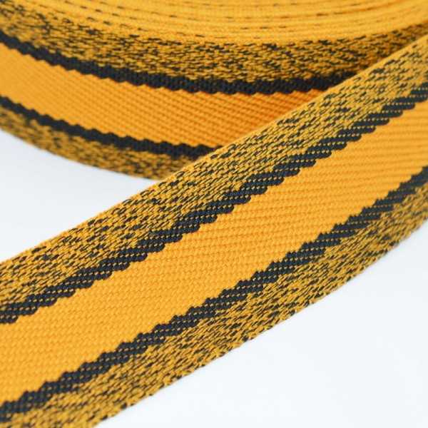 Gurtband, gelb meliert