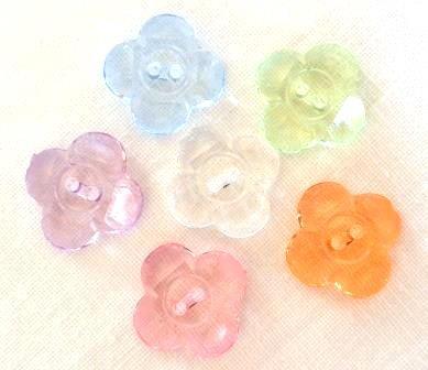 transparente Blume mit 4 Blättern, Knopf