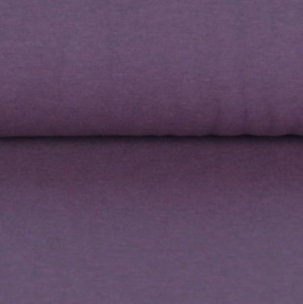 Glattes Bündchen dunkelviolett-meliert
