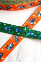 Nylonband, Hündchen, orange/grün