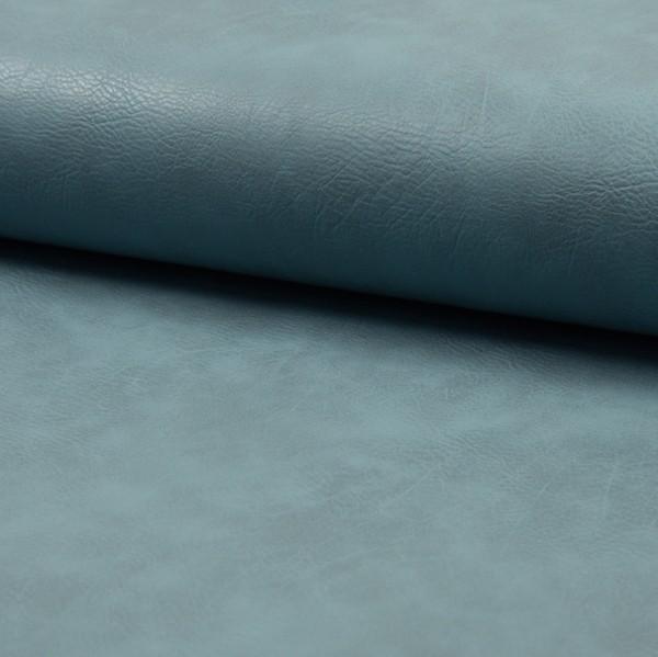 Vintage Lederimitat genarbt rauchblau