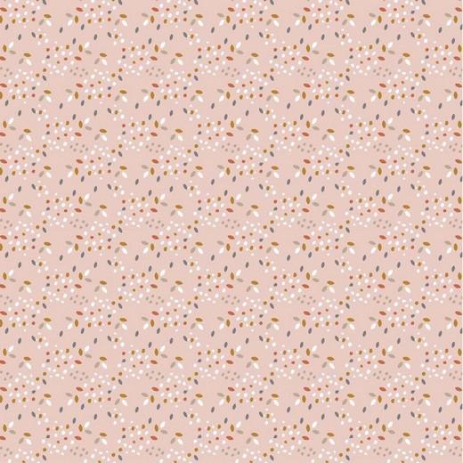 BIO-Baumwolllstoff, Safari Confetti rosa, waschbar bei 60°