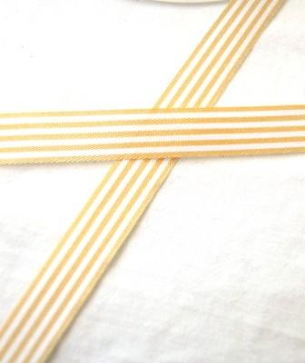 Stoffband, hellbraun gestreift, 10 mm