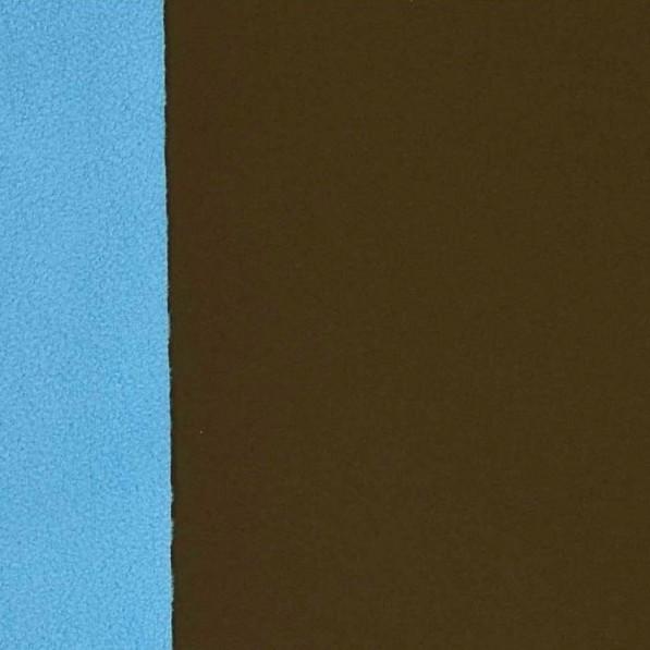Softshell dunkelbraun mit türkis, *Letztes Stück ca. 50 cm*
