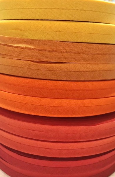 Package Schrägband, 20 mm, sunshine, 2 x 5 Meter