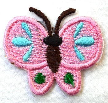Applikation Schmetterling, rosa