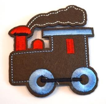 Applikation Lokomotive, braun