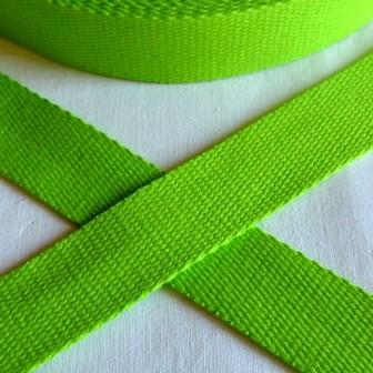 Baumwollgurtband, hellgrün, 2,5 cm
