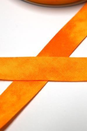 Tie Dye Schrägband, 20 mm, orange