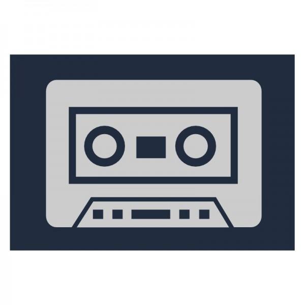 Reflektoraufbügler, Musikkassette, groß