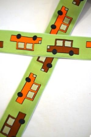 Autos, hellgrün, Webband