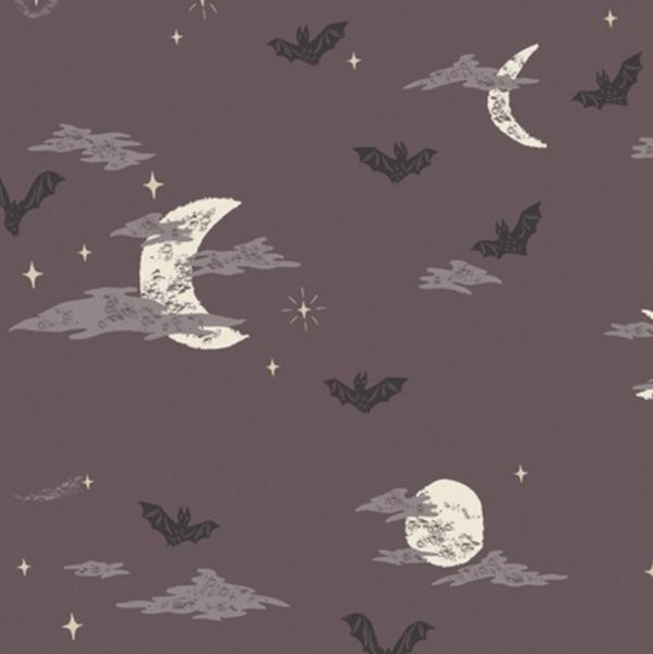 Art Gallerys Spooky'n Sweet Fledermäuse grau, Baumwollstoff