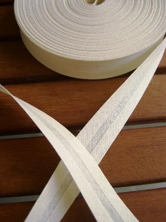 Package Schrägband, 20 mm, creme - 10 Meter