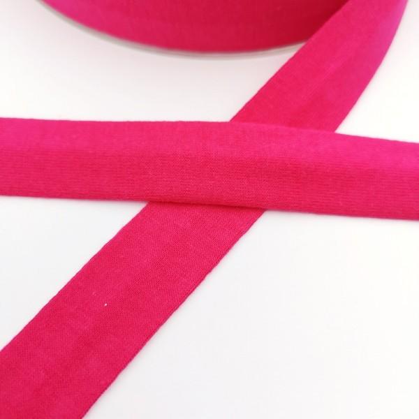Baumwolljersey-Schrägband ohne Elasthan, pink