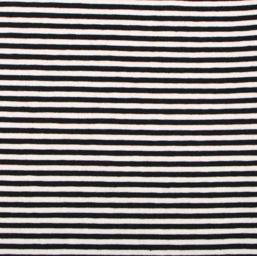 STENZO Streifenjersey schmal, schwarz-weiß