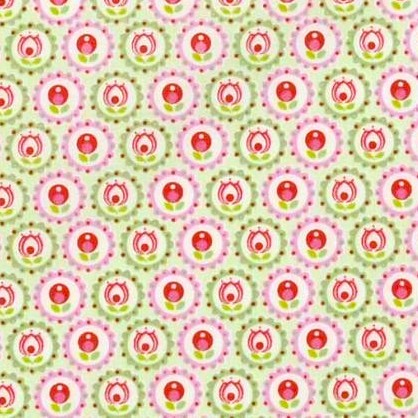 Tante Ema, Wiesenromanze rosa-grün, Webstoff, *Letztes Stück ca. 70 cm*