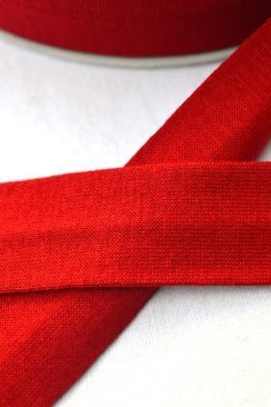 Viskosejersey-Schrägband, rot