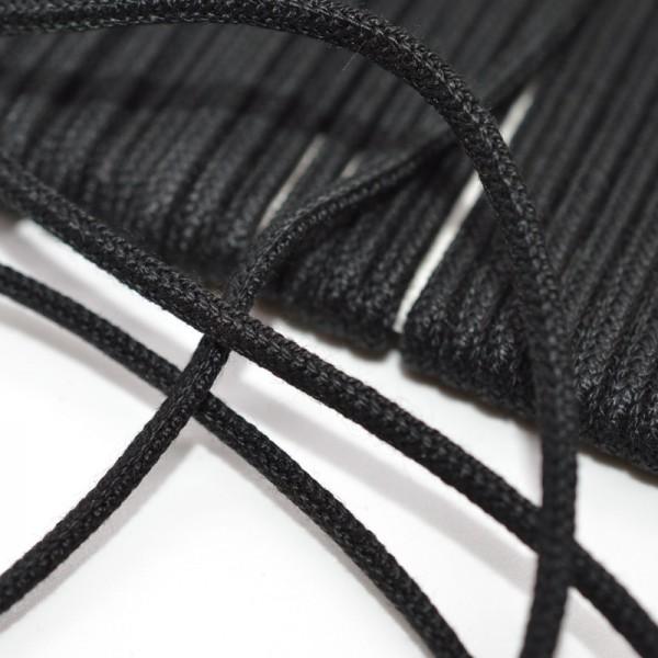 Biesenkordel schwarz, 2 mm (für die Herstellung von Paspeln)