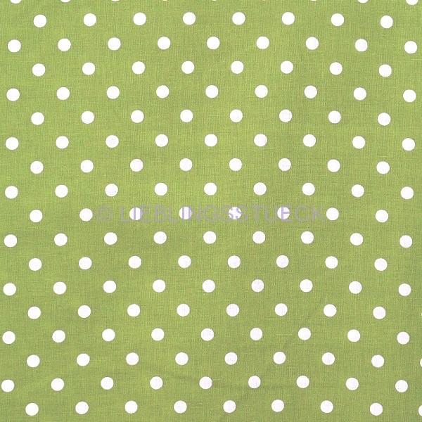 Lili Punkte mittel, waldgrün, Webstoff, waschbar bei 60°