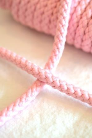 Flechtkordel, 8 mm, rosa